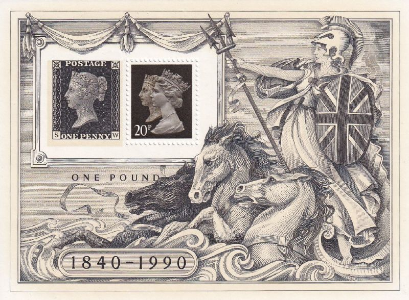 1990 Penny Black 150th Anniversary Mini Sheet